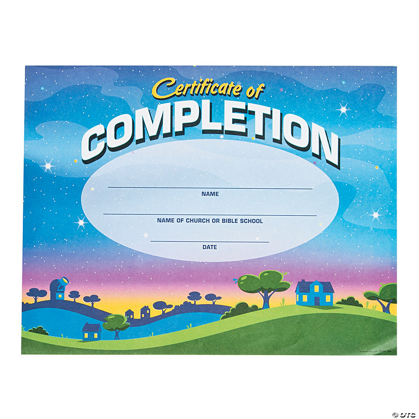 photograph about Vbs Certificate Printable titled Gods Galaxy VBS Certificates of Completion