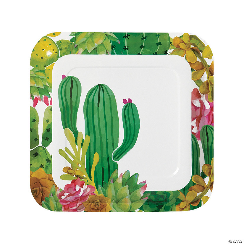Cactus Party Paper Dinner Plates Oriental Trading