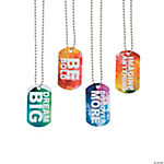 Watercolor Dog Tag Necklaces