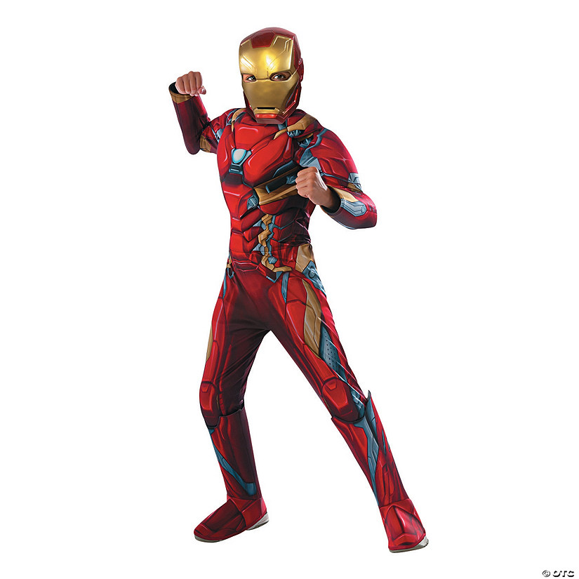boys deluxe muscle chest captain america civil war iron man costume
