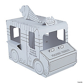 Color Your Own Ice Cream Truck Playhouse