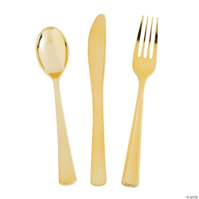 Gold Cutlery - Oriental Trading