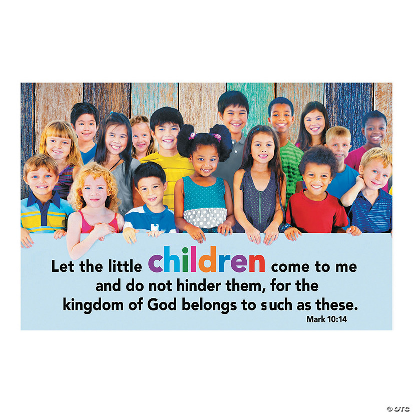 Jesus The Children Backdrop Banner
