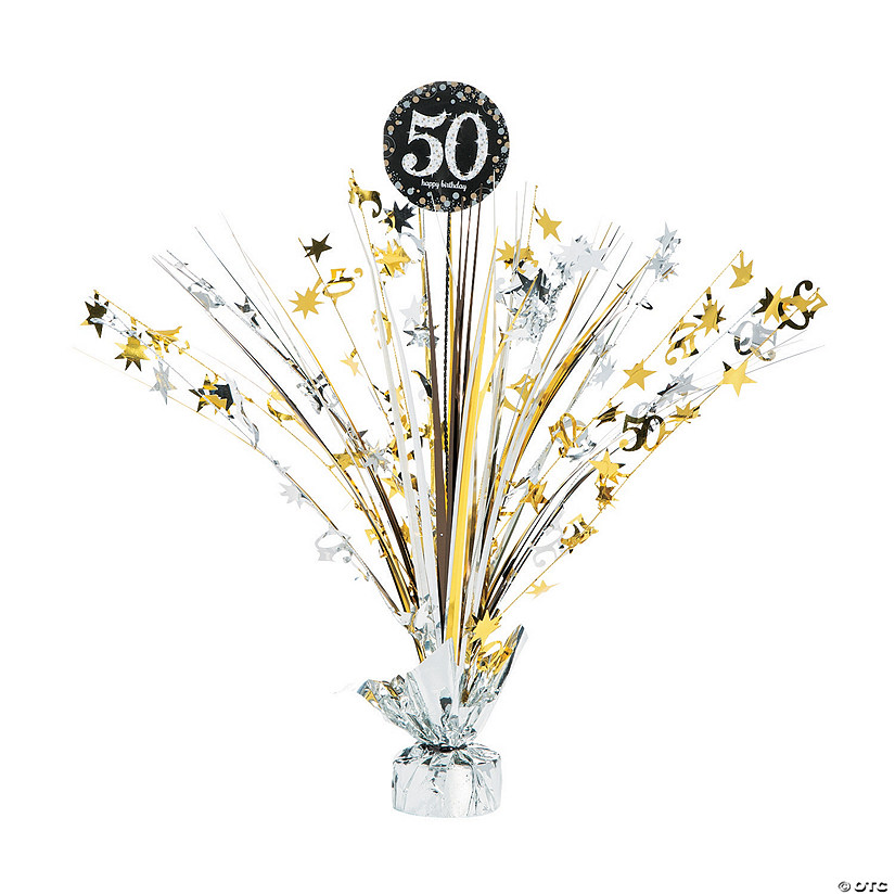 Sparkling Celebration 50th Birthday Centerpiece
