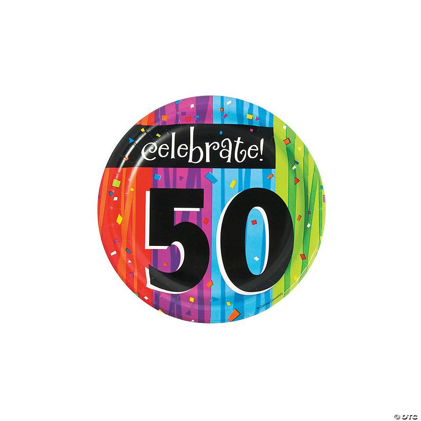 Milestone Celebration 50th Birthday Paper Dessert Plates