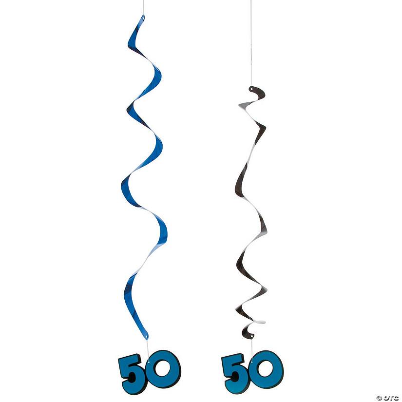 50th Birthday Hanging Swirl Decorations