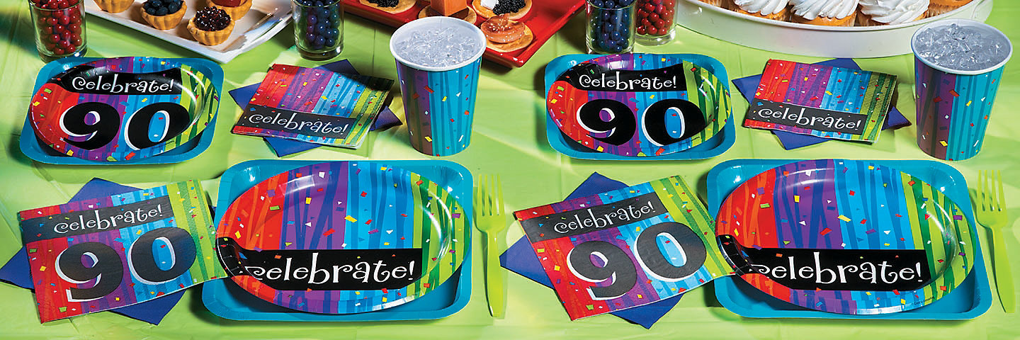 90th Birthday Celebration Party Supplies