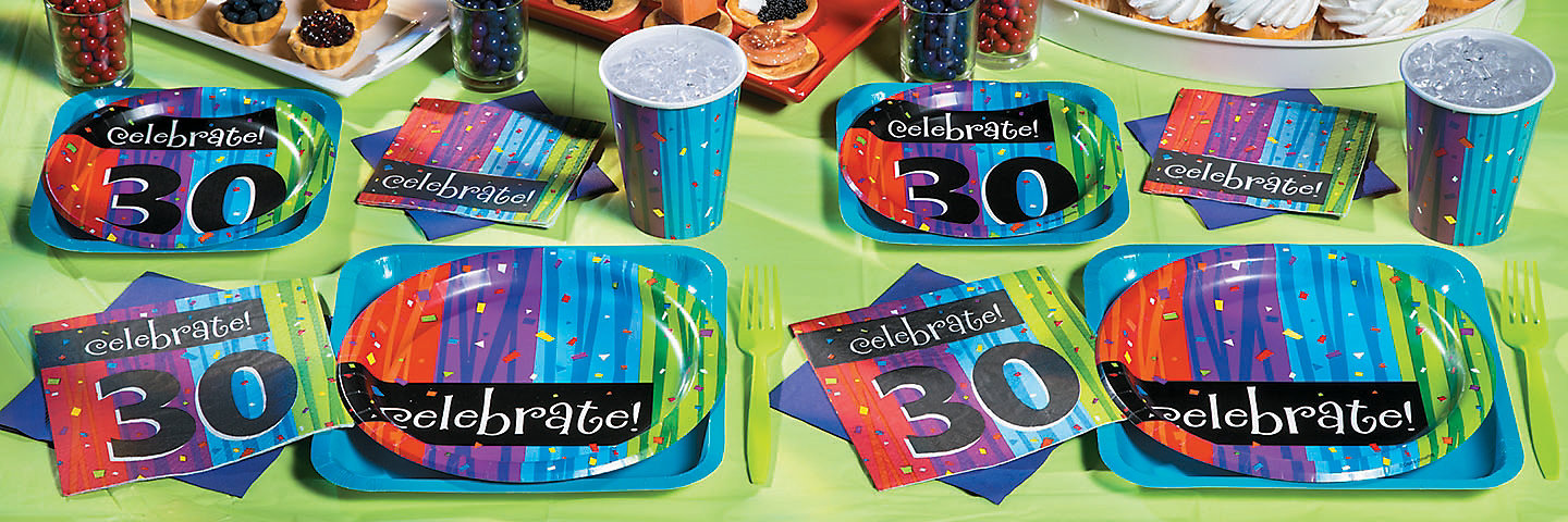 30th Birthday Milestone Celebration Party Supplies