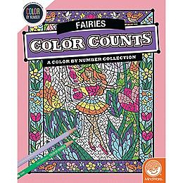 Color by Number Color Counts - Fairies