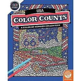 Color by Number Color Counts - Travel the USA