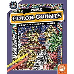 Color by Number Color Counts - Travel the World