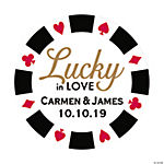 Personalized Lucky In Love Favor Stickers