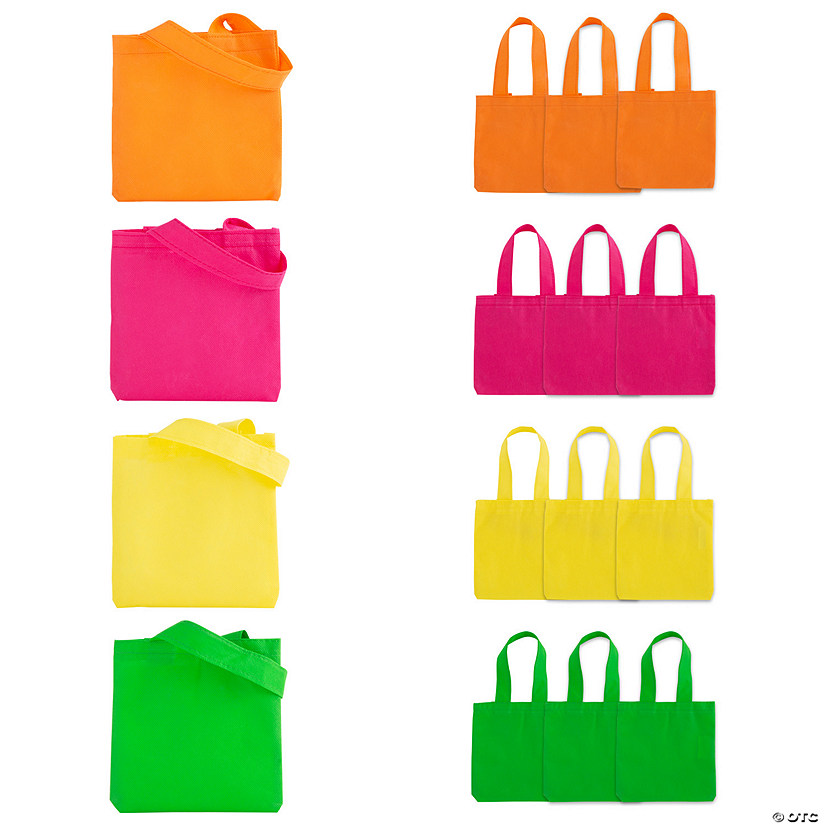 Mini Neon Tote Bags
