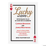 Personalized Lucky in Love Invitations