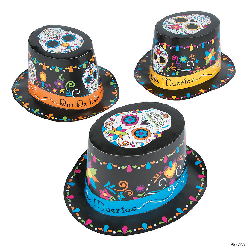 Day Of The Dead Top Hats