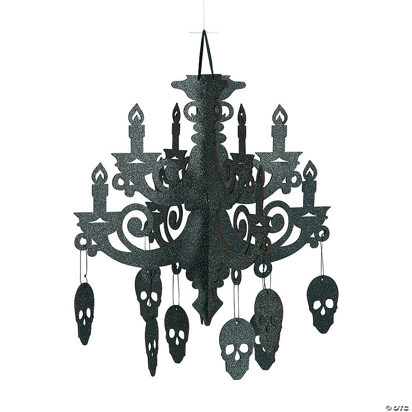new style 37a33 6cc88 Spooky Floral Chandelier Halloween Decoration