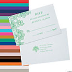 Personalized Lace Pattern Response Cards