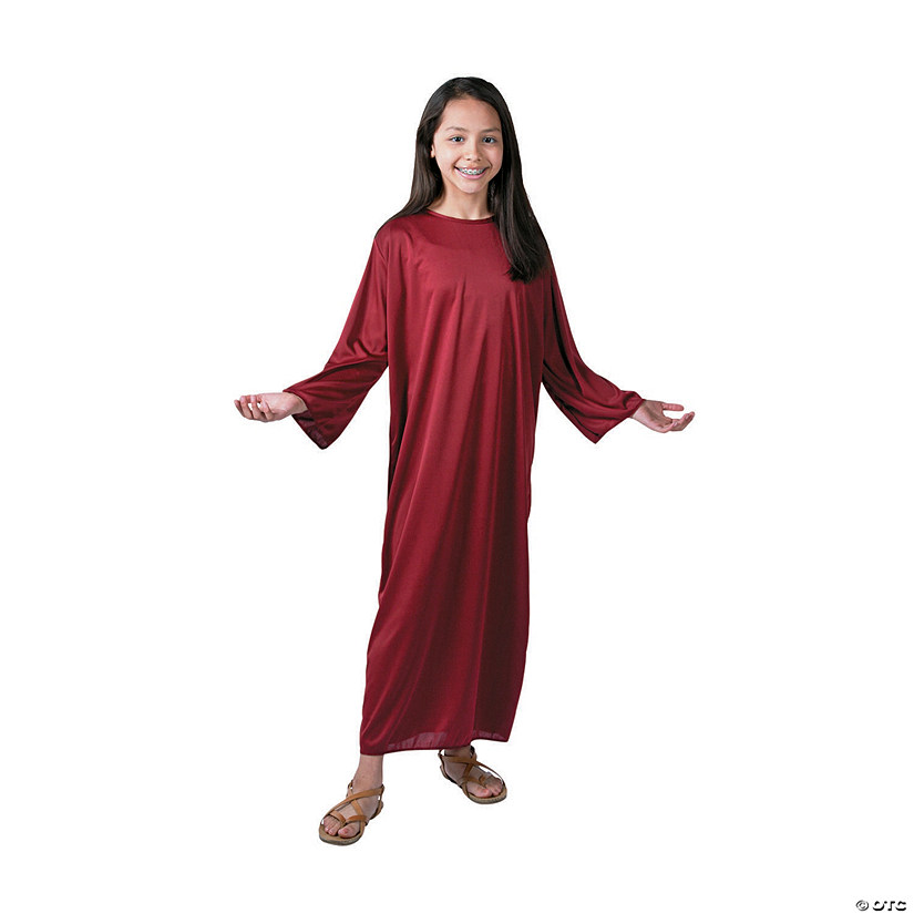 Kids\' Large Maroon Nativity Gown