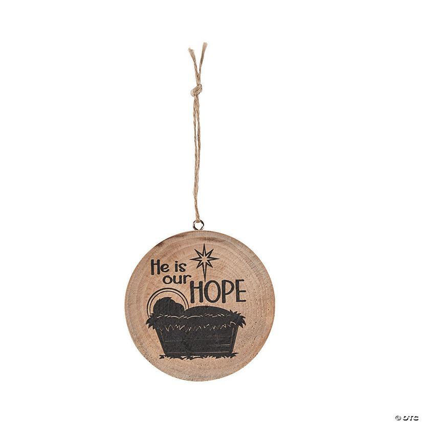 Christmas Iconography.Baby Jesus Wood Slice Ornaments