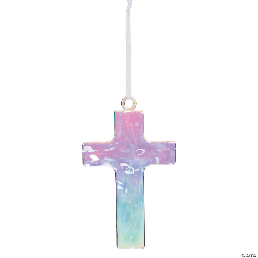 Religious Christmas Gifts.Clear Cross Ornaments