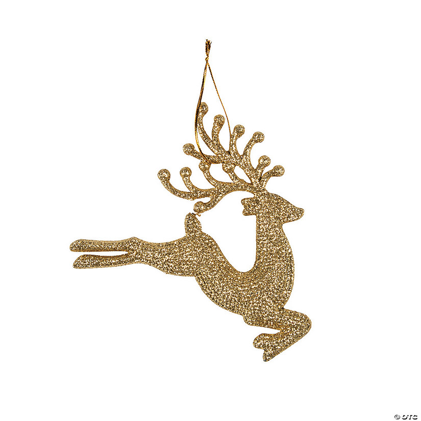 Gold Sparkle Reindeer Ornaments - Discontinued