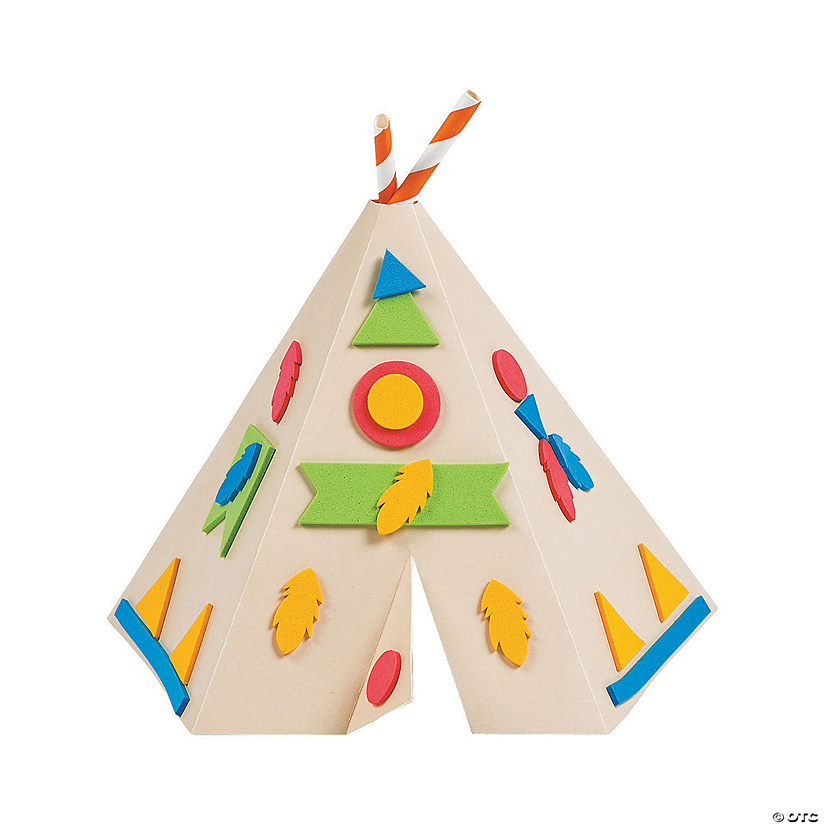 3D Tabletop Teepee Craft Kit d6a4e6c2f60