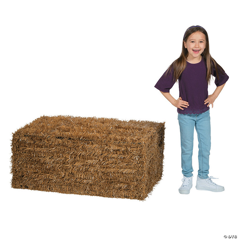 Collapsible Faux Hay Bale Oriental Trading