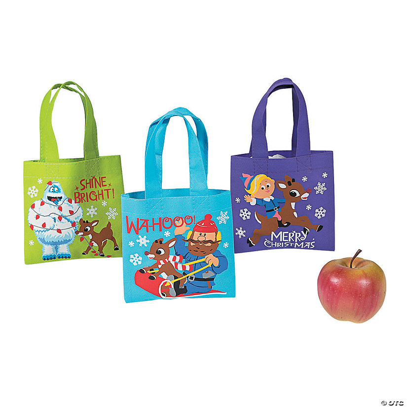 Mini Rudolph The Red Nosed Reindeer Tote Bags