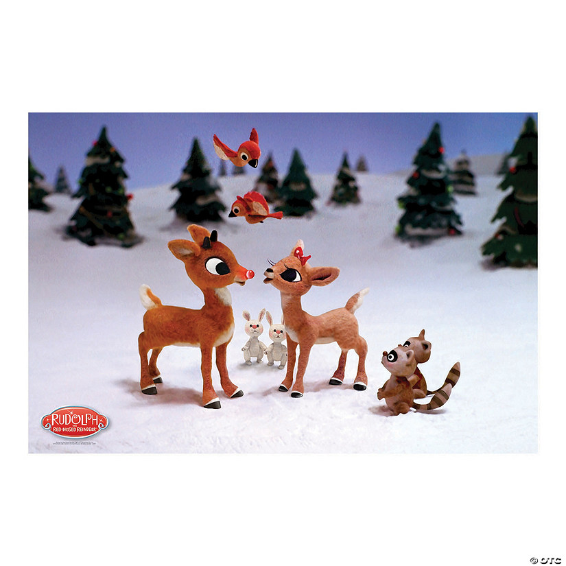 Rudolph Christmas 2020 Banner Rudolph the Red Nosed Reindeer® Backdrop Banner | Oriental Trading