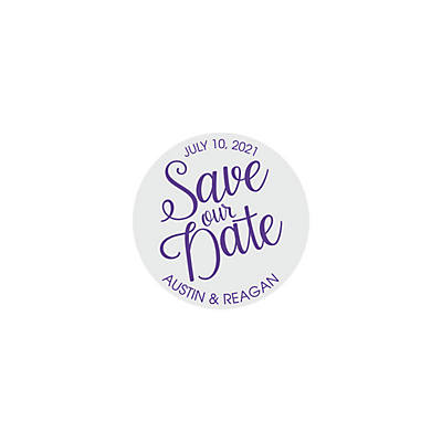 personalized save the date favor stickers