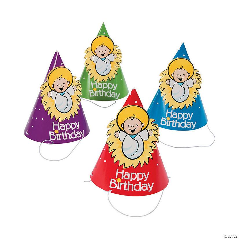 Happy Birthday Jesus Party Cone Hats