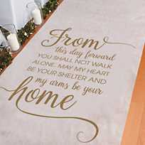 Song of Solomon 3:4 Aisle Runner 1 per Pack Wedding and Party D/écoration