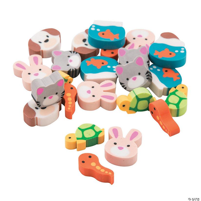 300 Pieces New Fun Express Mini Doughnut Eraser Assortment