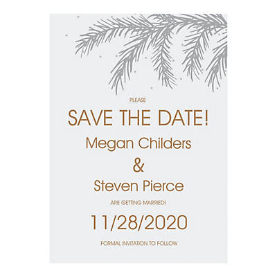 personalized winter wedding save the date cards