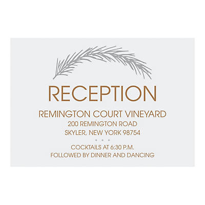 Personalized Winter Wedding Reception Cards