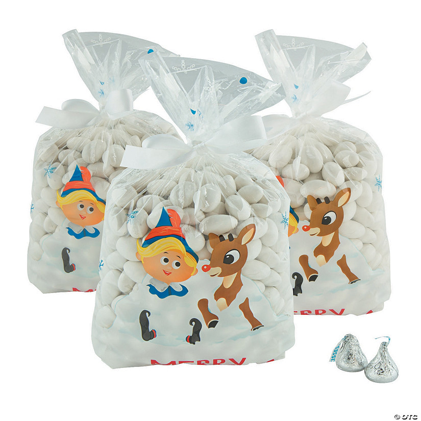 rudolph the red nosed reindeer christmas cellophane bags