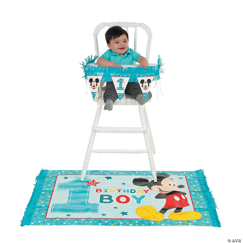 Disney Minnie Mouse Fun To Be One 1st Birthday High Chair Decorating Kit Organizacja Przyjec A2btravel Ge