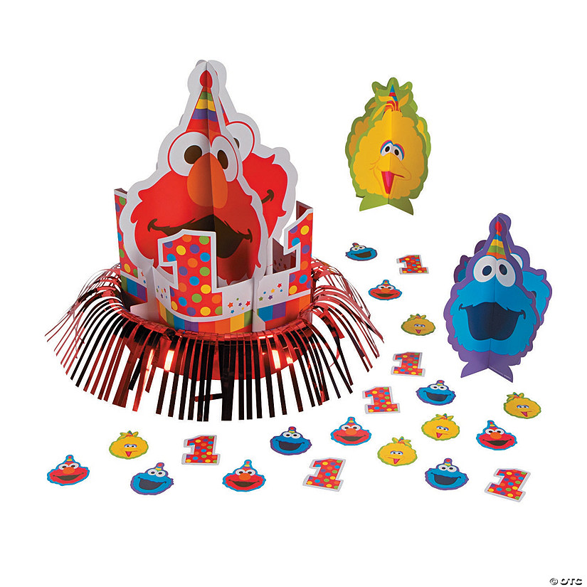 Sesame StreetR Elmo Turns One Table Decorating Kit