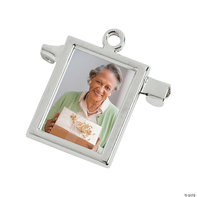 Silvertone Bouquet Frame Charm