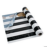 Black & White Valentine Tablecloth Roll