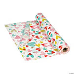 Valentine's Day Hearts Plastic Tablecloth Rolls