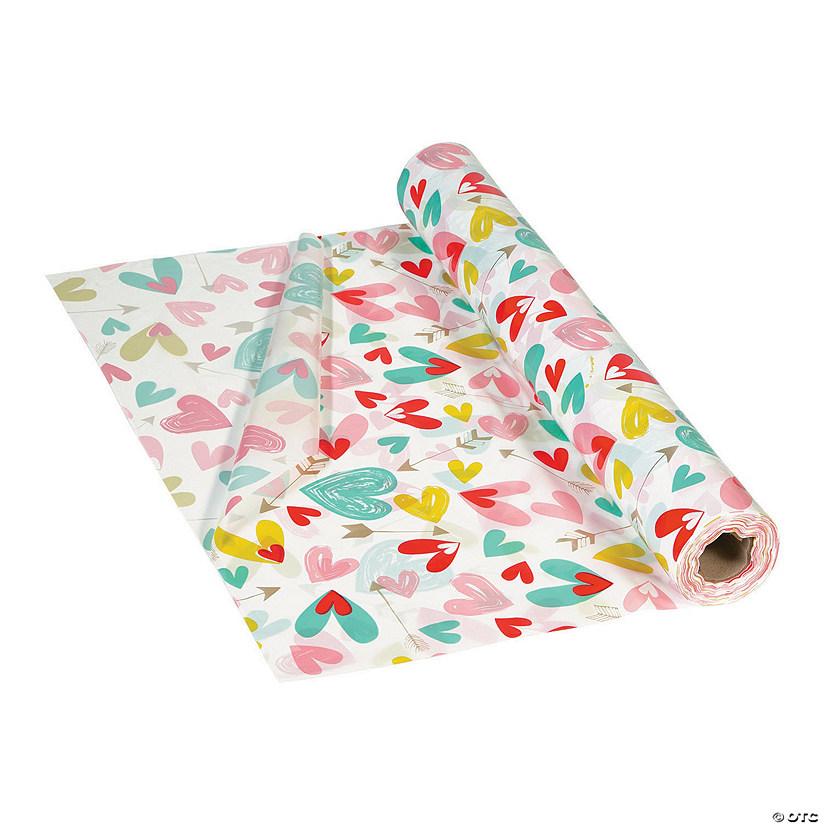 225 & Valentine\u2019s Day Hearts Plastic Tablecloth Rolls