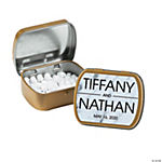 Personalized White Marble Mint Tins