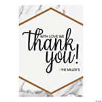Personalized White Marble Thank You Cards