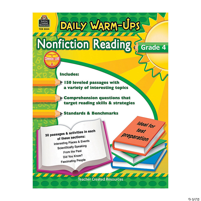Daily Warm-Ups: Nonfiction Reading - Grade 4 - Discontinued