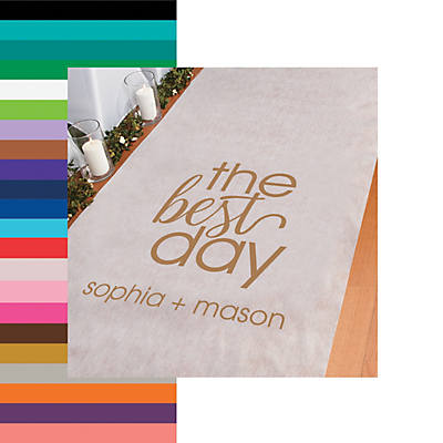 Personalized The Best Day Aisle Runner Oriental Trading