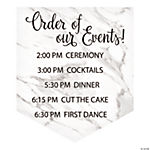Personalized White Marble Wedding Vinyl Banner