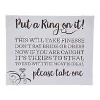 quickview image of put a ring on it bridal shower game instructions sign with sku13786766