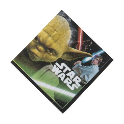 One Size Multicolor amscan Star Wars Episode 9 Luncheon Napkins 16pc