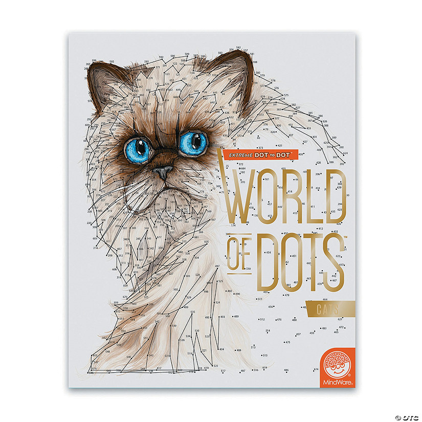 Extreme Dot To Dot World Of Dots Cats Mindware